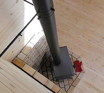 煙突の設置